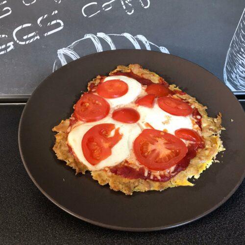 Pizza Magharita mit Thunfischboden